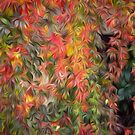 Ivy showing its autumn colours oil paint effect by funkyworm
