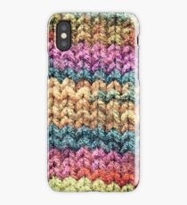 Knitted colours. iPhone Case/Skin