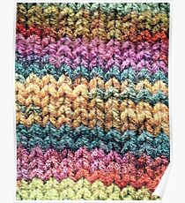 Knitted colours. Poster