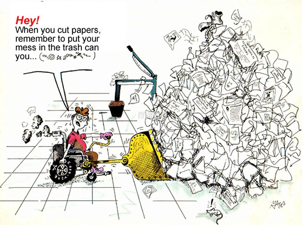 Auto cartoon by mago
