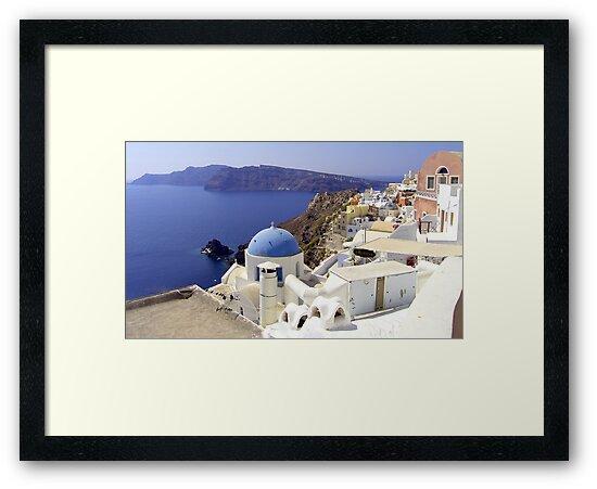 Santorini View by Tom Gomez
