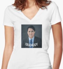 Justin Trudeau Trudaddy Women's Fitted V-Neck T-Shirt