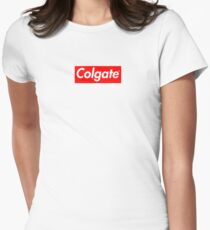 Colgate (Supreme Parody) Womens Fitted T-Shirt