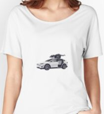 Tesla Back To The Future  Women's Relaxed Fit T-Shirt