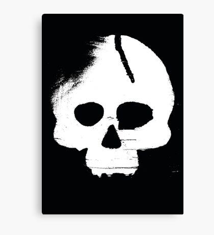Skull Stencil Canvas Print