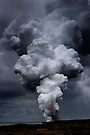 Kilauea Volcano at Kalapana 3c by Alex Preiss