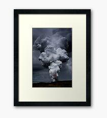 Kilauea Volcano at Kalapana 3a Framed Print