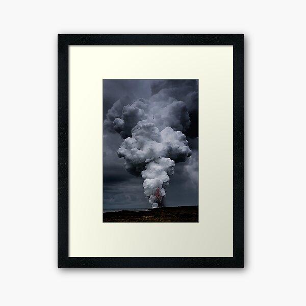 Kilauea Volcano at Kalapana 3c Framed Art Print