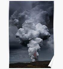 Kilauea Volcano at Kalapana 3a Poster