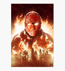 Jason In Flames Photographic Print