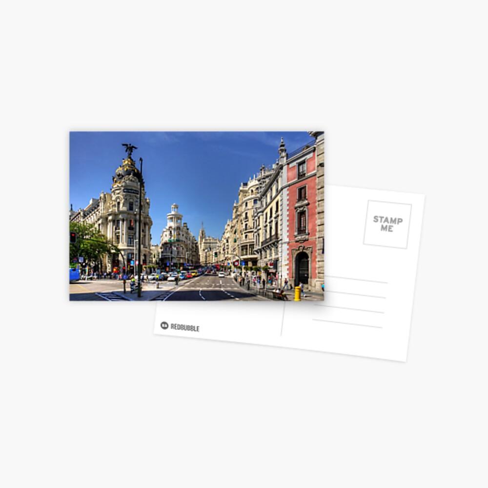 Das Ende der Calle de Alcalá Postkarte
