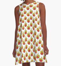 fire seamless doodle pattern A-Line Dress