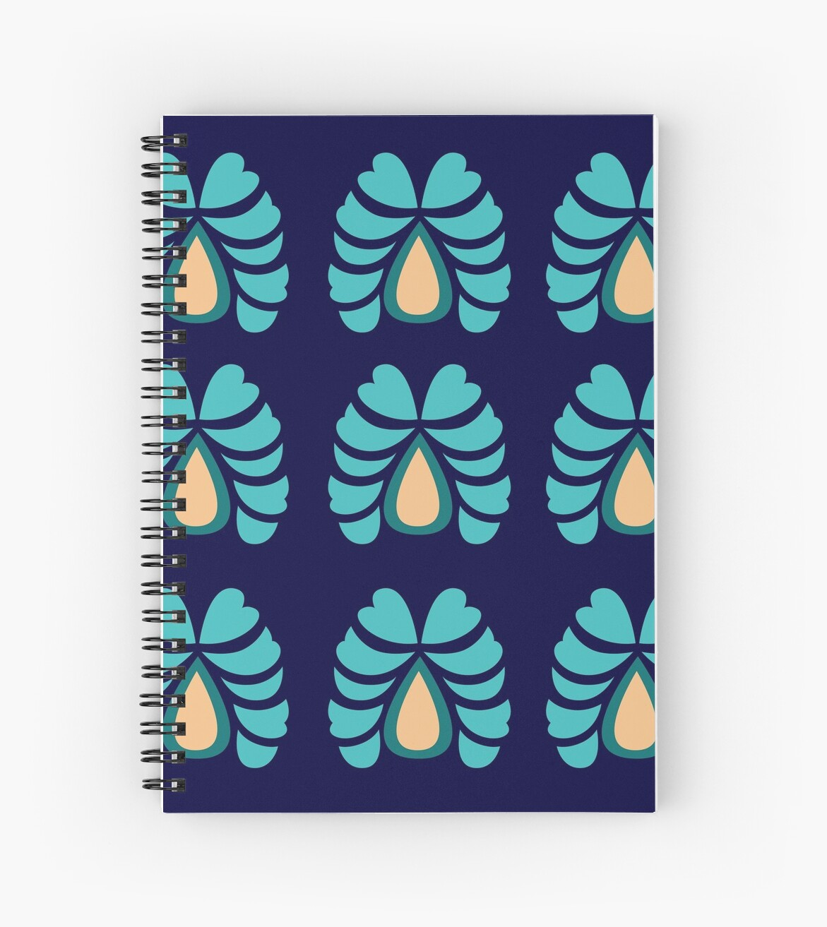 MOROCCO BLUE FOLK FLOWERS Ethno by Bee and Glow Illustrations Shop