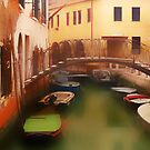 Old Bridge in Venezia by Angelika  Vogel