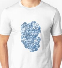 Abstract Tide Pool Cluster in Indigo Unisex T-Shirt