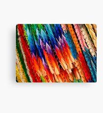 Rainbow Cranes Canvas Print