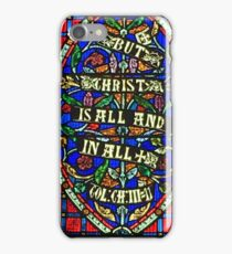 Irish Stained Glass - Christ is All in All iPhone Case/Skin