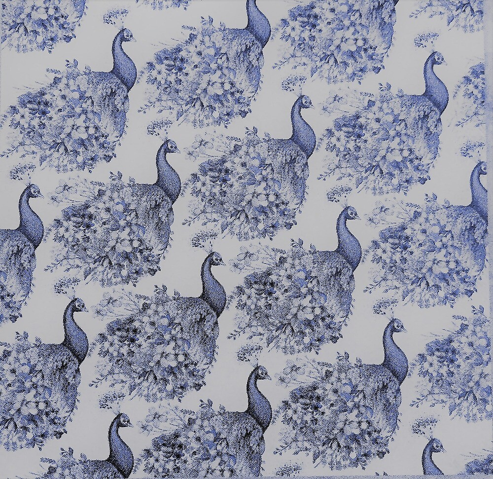 blue peafowl  by mary1966