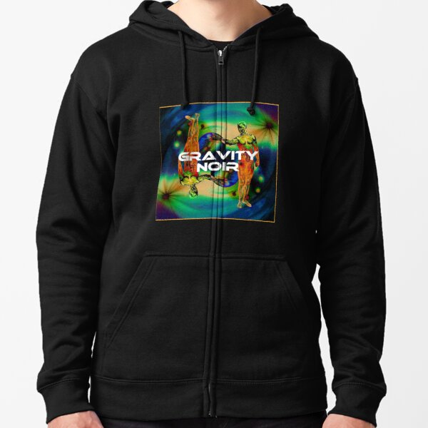Gravity Noir by Andrew Williams Zipped Hoodie