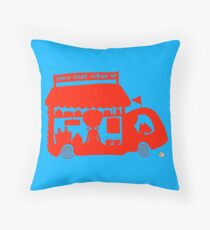Cool Red Food Truck! Throw Pillow