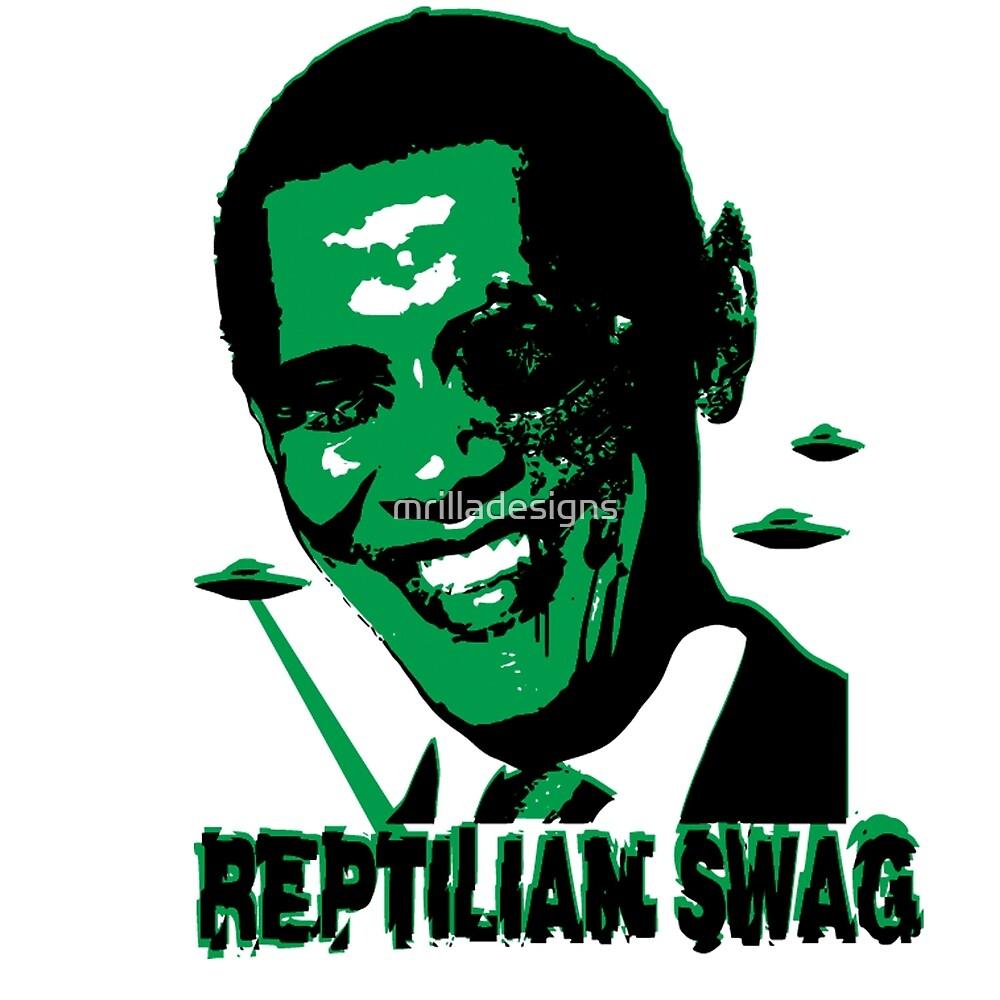 reptilian swag sticker by mrilladesigns