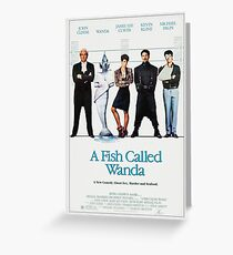 A Fish Called Wanda - Movie Poster Greeting Card