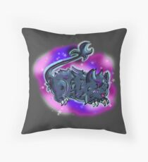 Galaxy cute lion Kuro Throw Pillow