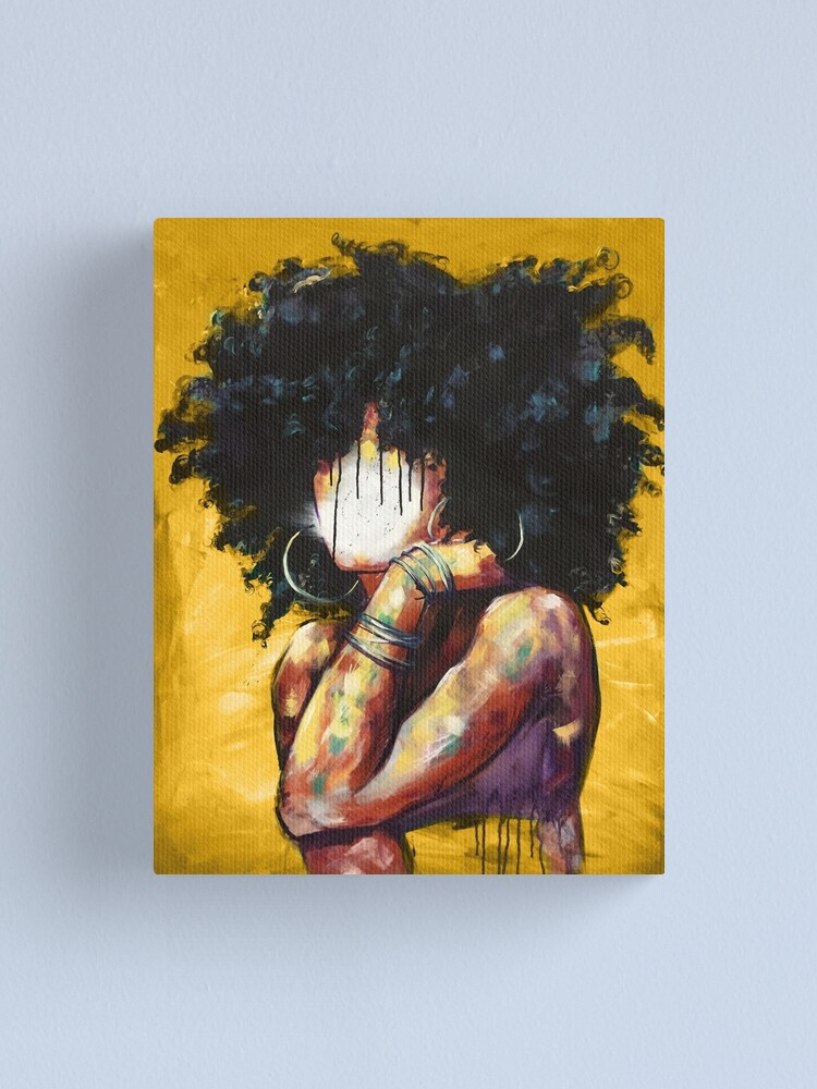 Alternate view of Naturally II GOLD Canvas Print