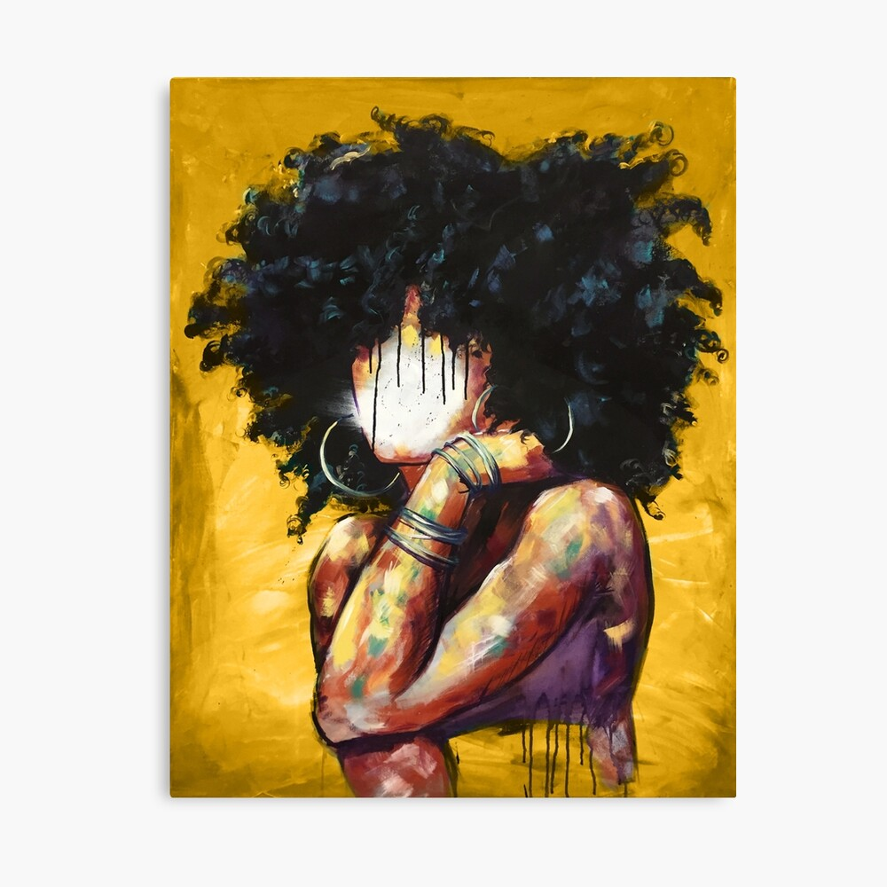 Naturally II GOLD Canvas Print