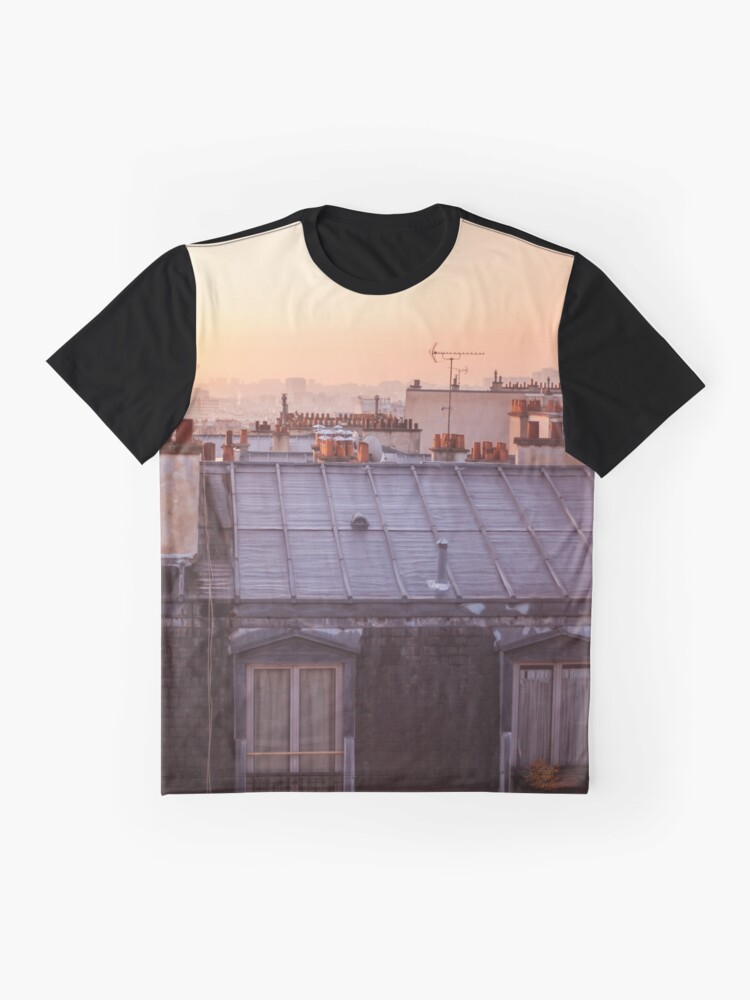 Alternate view of Breathe Paris.... Graphic T-Shirt