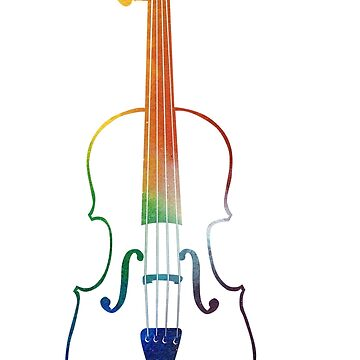 Rainbow Space Violin by riotrainbows
