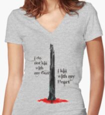The Dark Tower Women's Fitted V-Neck T-Shirt