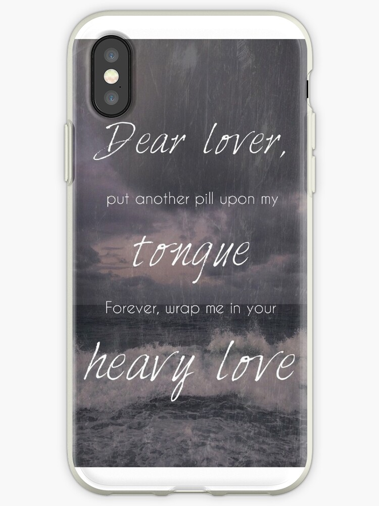 "Lea Michele ""Heavy Love"" Lyric Phone Case by BeckalouDarling"