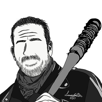Negan Outline by TheDigitalDead