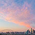 Fiery Pink Dallas Skyline by josephhaubert