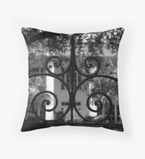 Hasell Street Gate #1, Charleston, SC Throw Pillow