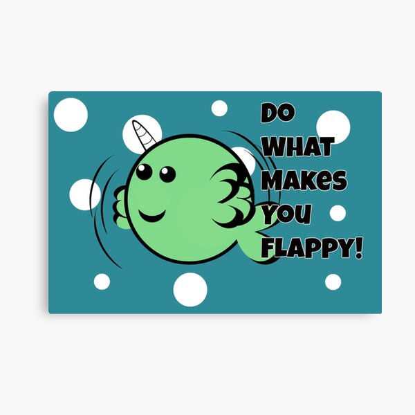 Flappy Narwhal Canvas Print