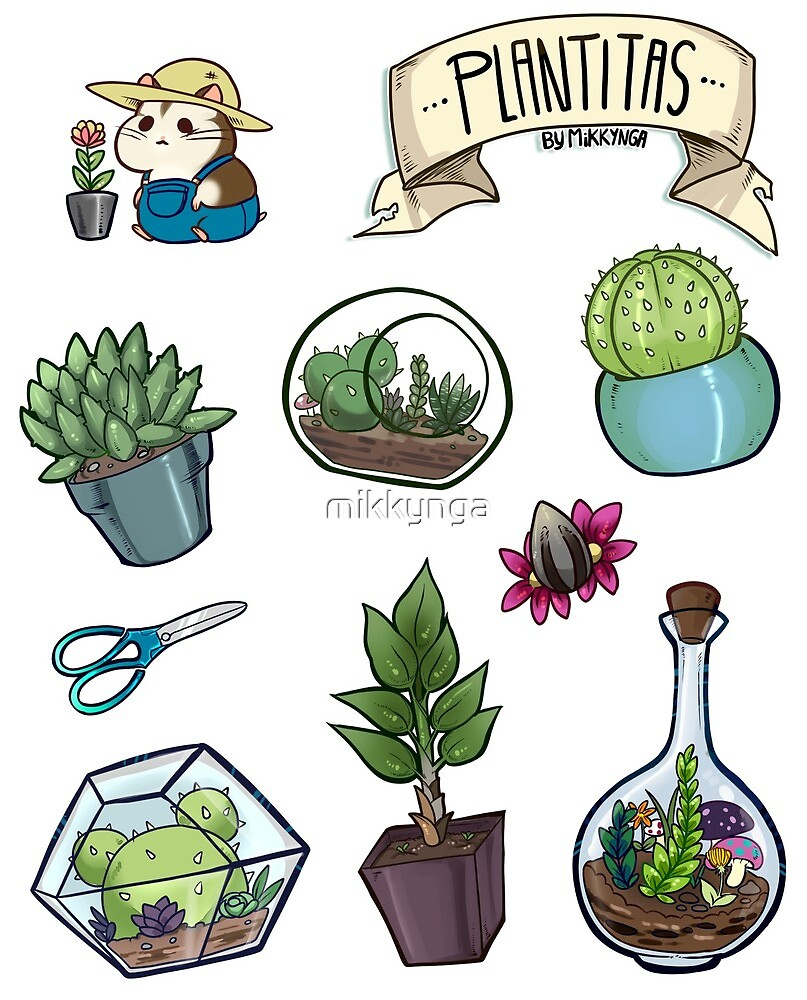 Little plants sticker set by mikkynga