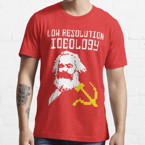 Marxism - A Low Resolution Ideology Essential T-Shirt