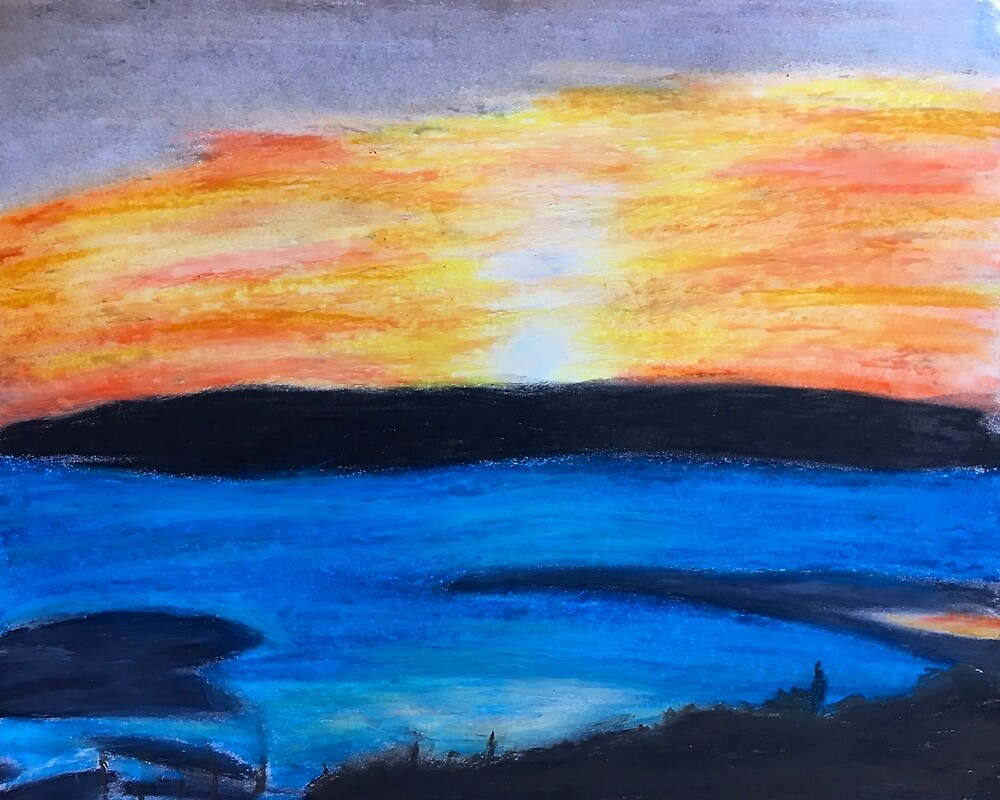 Oil Pastel Sunset  by blowsoapsuds