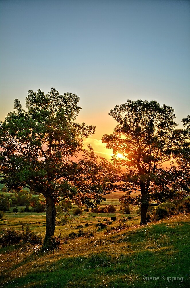 Balltown Valley Sunrise 2 by Duane Klipping