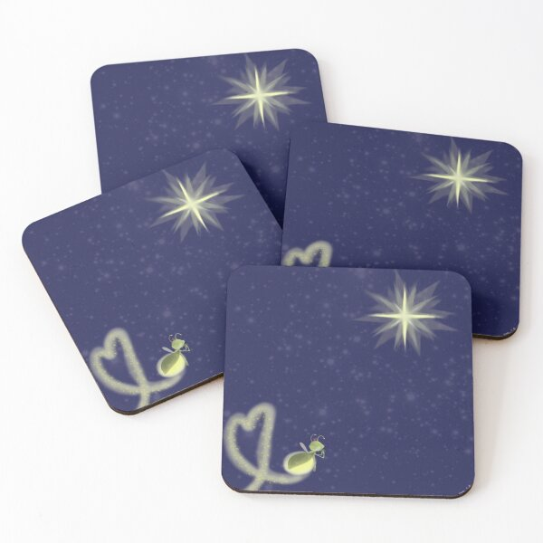 Ray and Evangeline Coasters (Set of 4)