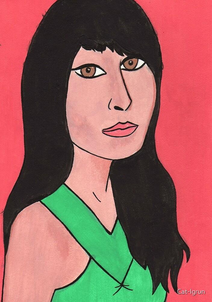 Self portrait by Cat-Igrun