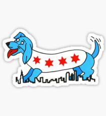 Chicago Style Dog Sticker