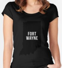 Fort Wayne, Indiana Silhouette Women's Fitted Scoop T-Shirt
