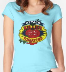 Attack Of The Killer Tomatoes Women's Fitted Scoop T-Shirt