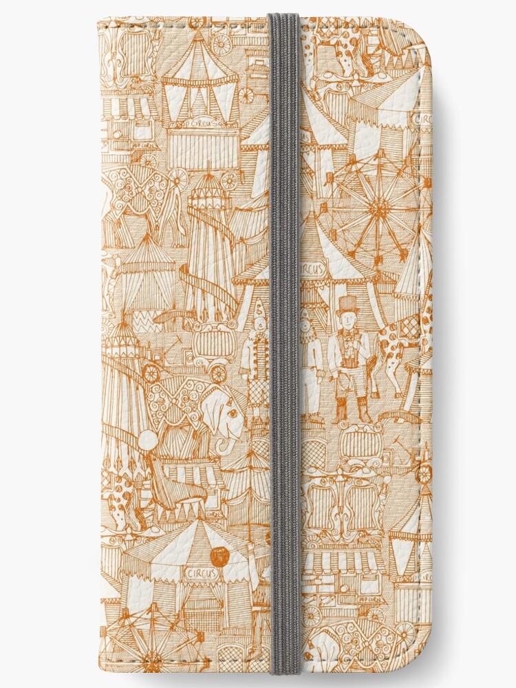 retro circus orange ivory by Sharon Turner