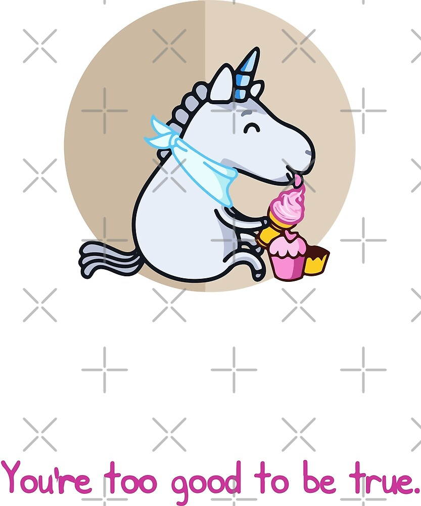 Unicorn Ice cream Funny Cupcake by PopArtDesigns