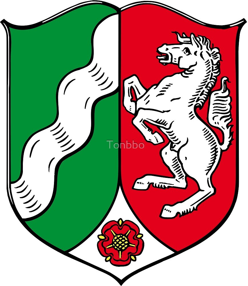 North Rhine-Westphalia coat of arms by Tonbbo