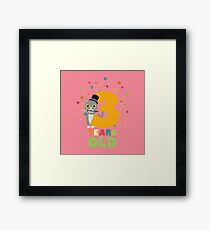 Three Years third Birthday Party Cat Rdd8s Framed Print